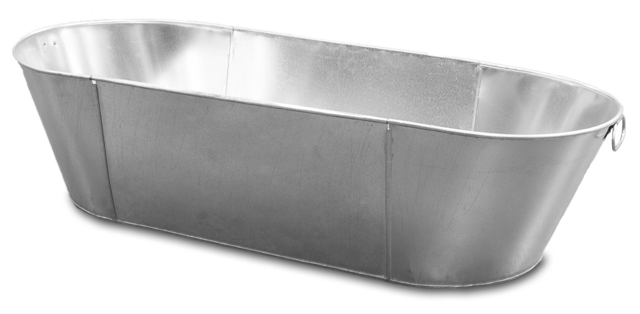 Tin Bath - Galvanised Steel Bath - Handmade In England - Sherpa Tools